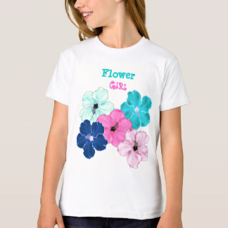Hibiscus Art Flower Girl Tee Shirt