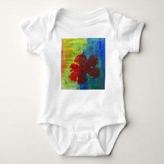 hibiscus baby bodysuit