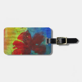 hibiscus bag tag