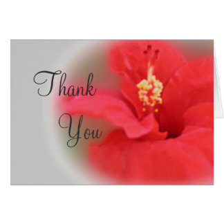 Hibiscus Bloom Thank You Card