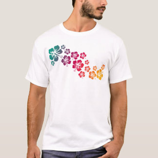 hibiscus blooms coloured T-Shirt