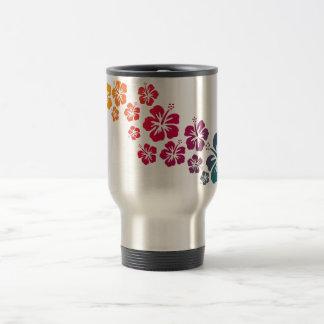 hibiscus blooms coloured travel mug