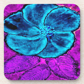 Hibiscus Blues Coaster