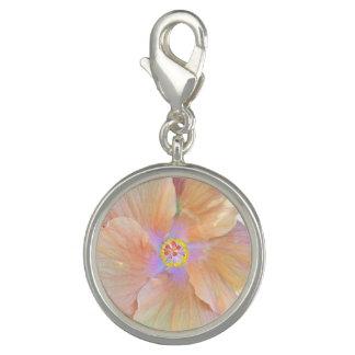 Hibiscus bracelet charm