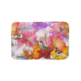 Hibiscus Butterflies Bath Mats