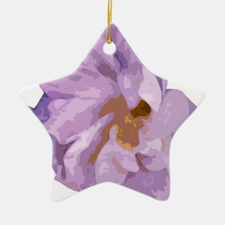 hibiscus ceramic ornament