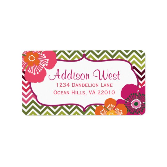 Hibiscus Chevron Labels
