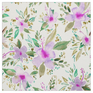 HIBISCUS DANCE Tropical Pink Floral Fabric