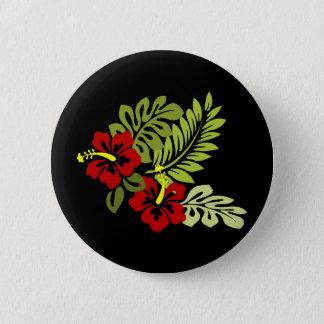 Hibiscus design 2 inch round button