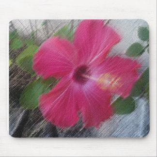 Hibiscus design mousepad