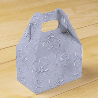 Hibiscus Doodles Gable Gift Box in Blue