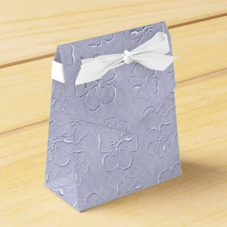 Hibiscus Doodles Tent Style Gift Box in Blue