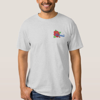 Hibiscus Embroidered T-Shirt