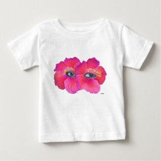 Hibiscus Eyes - Pink Baby T-Shirt
