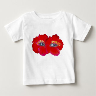 Hibiscus Face  - Red Baby T-Shirt