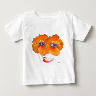 Hibiscus Face with Smile - Orange Baby T-Shirt