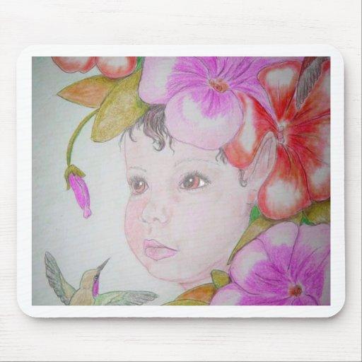 Hibiscus Fairy (2) Mousepad