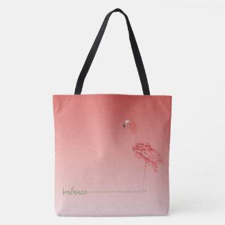 hibiscus flamingo tote bag __ balance
