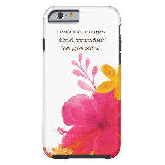 Hibiscus Floral Iphone 6s Cover Tough iPhone 6 Case