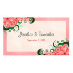 Hibiscus Floral Pink Wedding Favour Favour Tags Pack Of Standard Business Cards