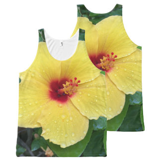 Hibiscus Flower All-Over-Print Tank Top