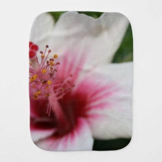 Hibiscus Flower Baby Burp Cloths