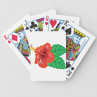 Hibiscus Flower Bicycle Playing Cards