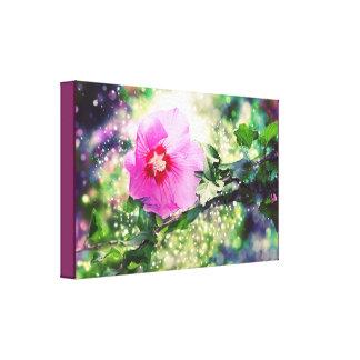 Hibiscus Flower - Bokeh, Lights. Hibiskus Canvas Print