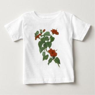 Hibiscus Flower Botanical Drawing Baby T-Shirt