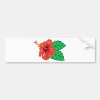 Hibiscus Flower Bumper Sticker