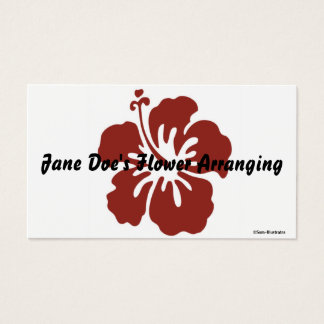 Hibiscus Flower Business Card Template