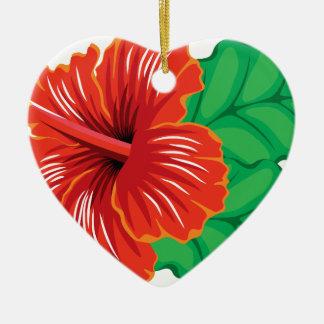 Hibiscus Flower Ceramic Ornament