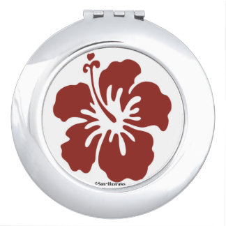 Hibiscus Flower Compact Mirror