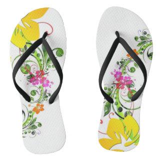 Hibiscus flower flipflops