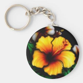 Hibiscus Flower Key Chain