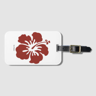 Hibiscus Flower Luggage Tag with Card Holder