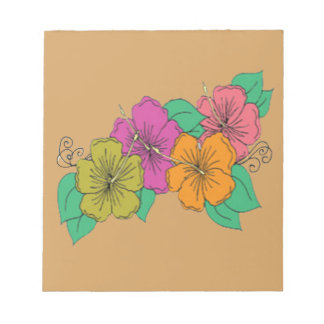 Hibiscus Flower Notepad