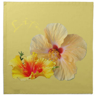 ☼ HIBISCUS , Flower of passion ☼ Napkin
