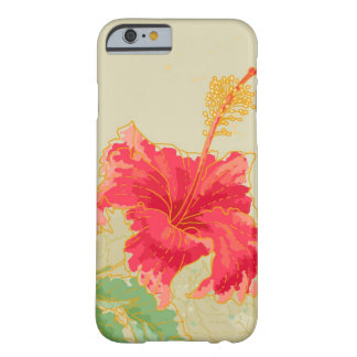 Hibiscus flower on toned background barely there iPhone 6 case