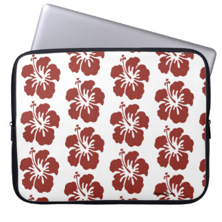 Hibiscus Flower Pattern Computer Laptop Sleeve