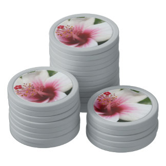 Hibiscus Flower Set Of Poker Chips