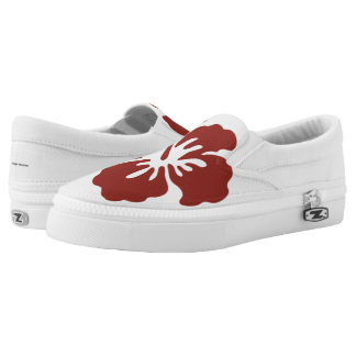 Hibiscus Flower Slip On Shoes
