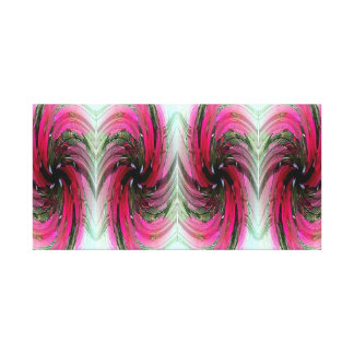 Hibiscus Flower Swirl X 4 Wrapped Canvas