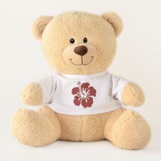 Hibiscus Flower T-Shirt Stuffed Tedd Bear