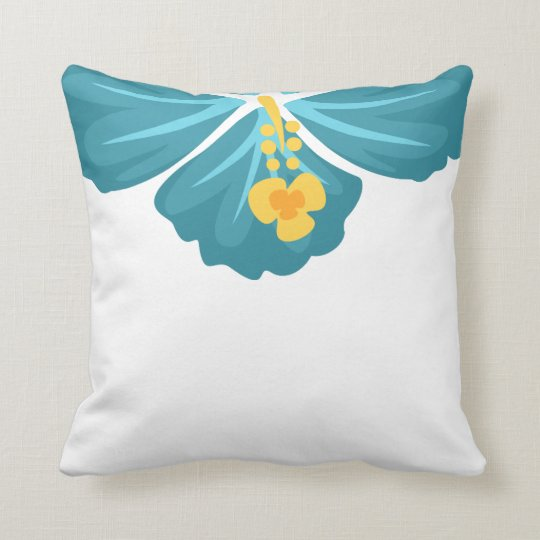 Hibiscus Flower Throw Pillow