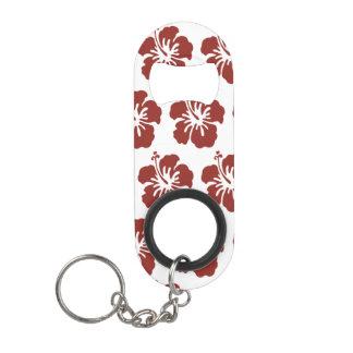 Hibiscus Flower Tropical Bottle Opener Keychain Bottle Opener