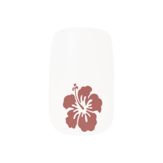 Hibiscus Flower Tropical Nail Art