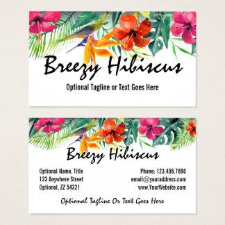 Hibiscus Flower Tropical Paradise Hawaiian Floral Business Card