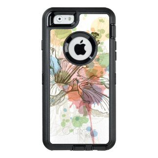 Hibiscus flower & watercolor background OtterBox iPhone 6/6s case