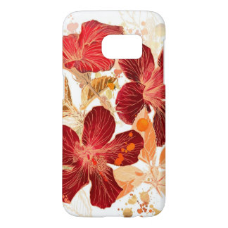 Hibiscus flower - watercolor paint 2 samsung galaxy s7 case
